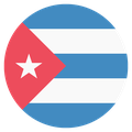 Small circular country flag icon of cuba