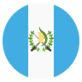 Small circular country flag icon of guatemala