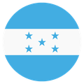 Small circular country flag icon of honduras