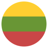 Small circular country flag icon of lithuania