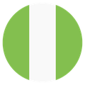 Small circular country flag icon of nigeria