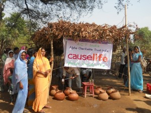 causelife water hut in India