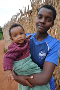 Mother and child in Rwanda - AIDS 2012