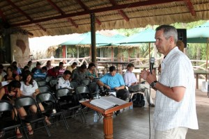 Brian preaching in Guatemalan church