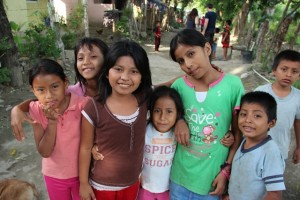 Children in a local Guatemalan village