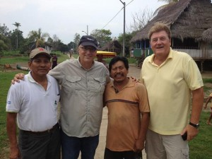 Vernon and Tom with church planters on the Amazon