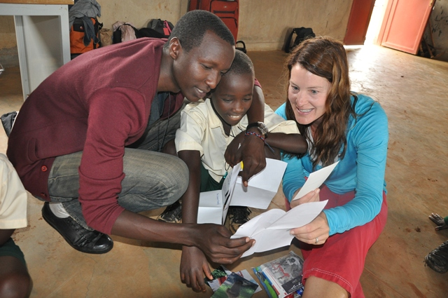 Letters being read at the Star School in Rwanda