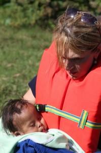 Noel on a river rescue in Guatemala