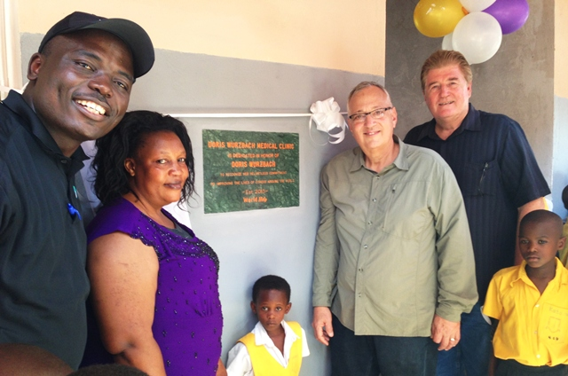 Dedicating medical clinic provided by Doris Wurzbach