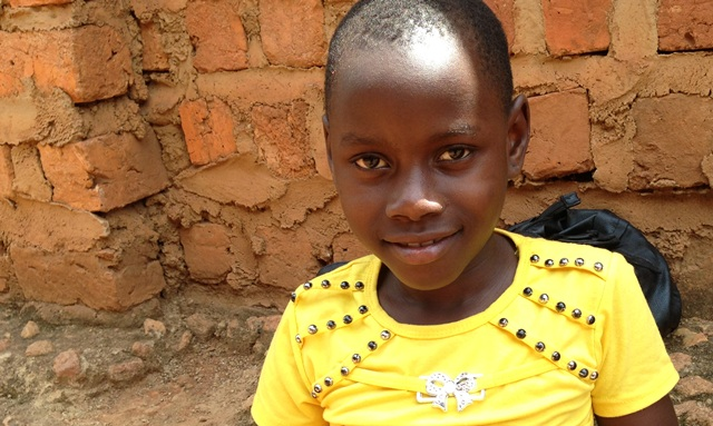 Young girl in Uganda