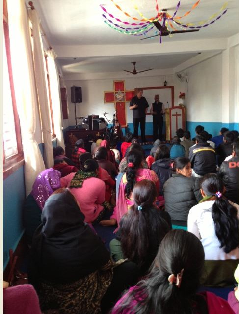 Tom speaking at KA Church Nepal
