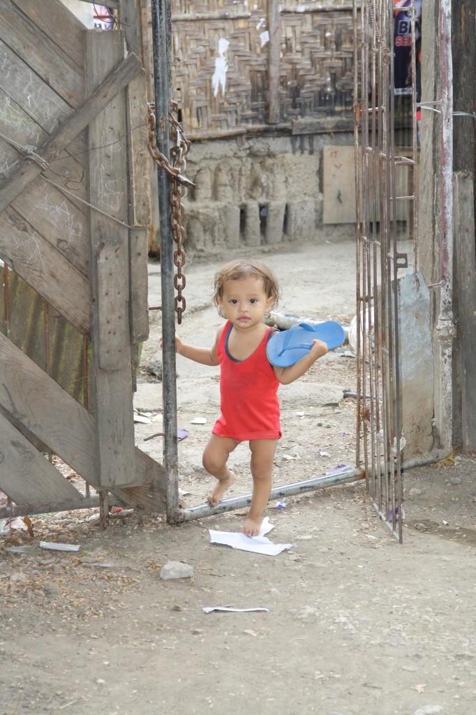 Filipino children typhoon