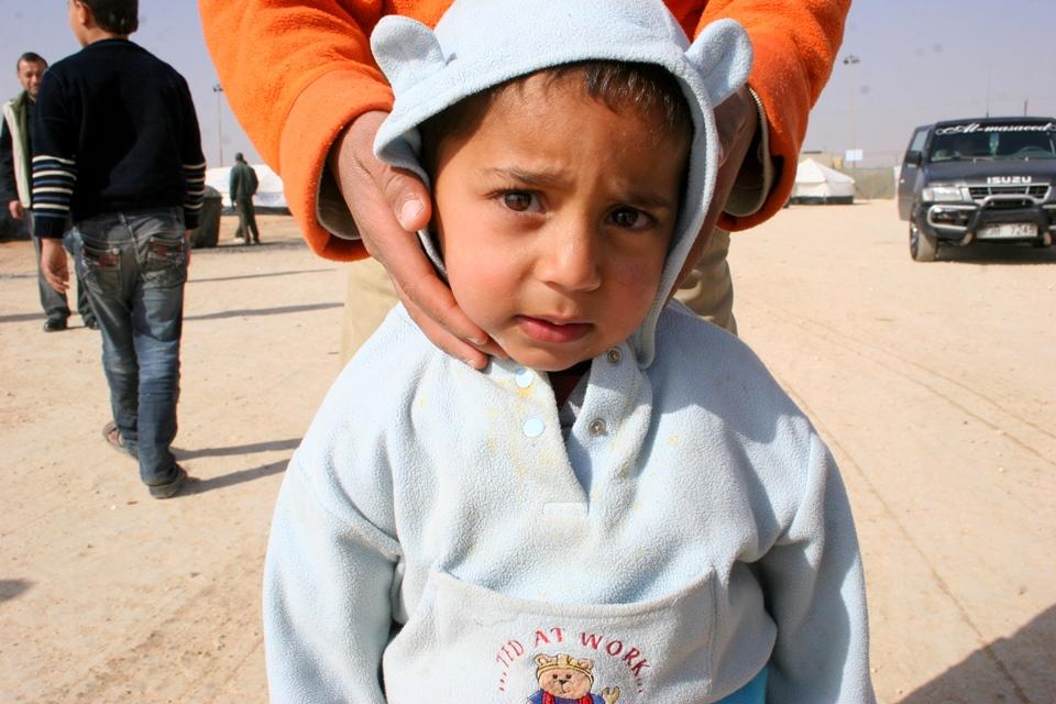 Syrian refugee baby