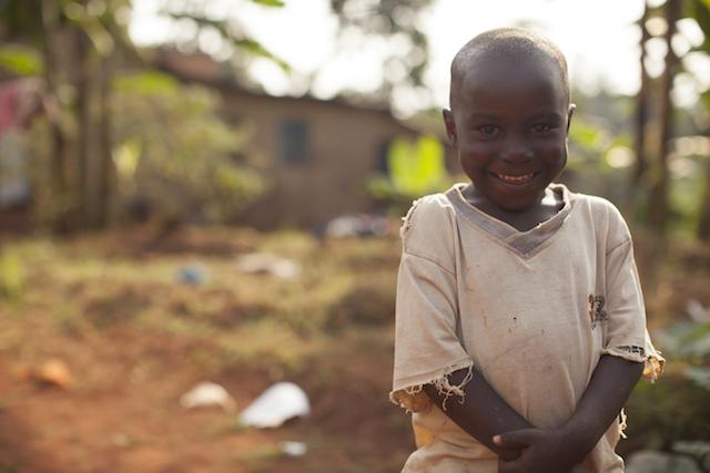 Child in Kampala Slum World Help 2012