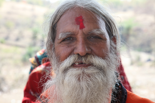 Religious man in India World Help 2013