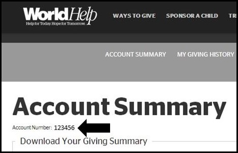 donor account number
