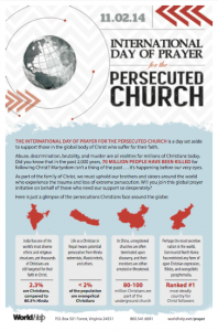 International Day of Prayer Persecuted Church Bulletin 2014