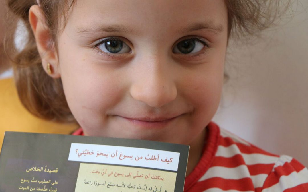 You can provide a storybook Bible to a child refugee