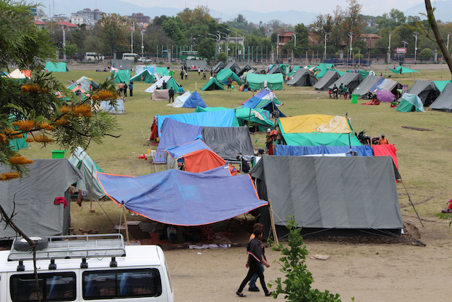 Nepal tent city - World Help
