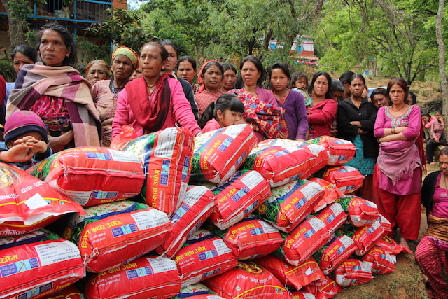 Nepal humanitarian aid - World Help