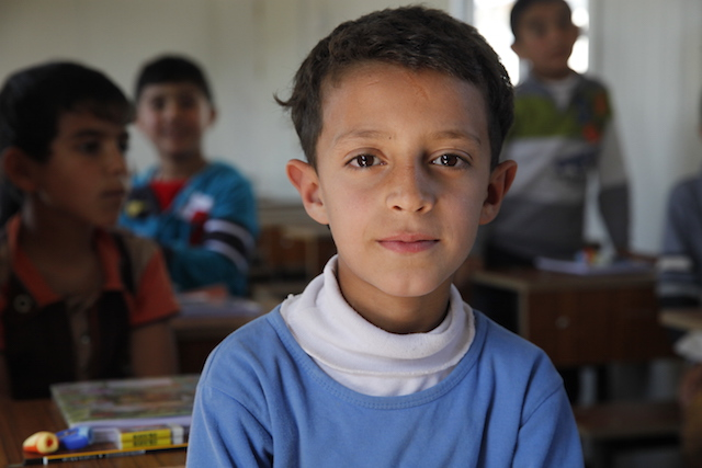 Iraqi refugee boy