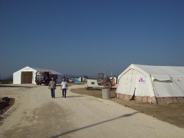 New tents built by UN