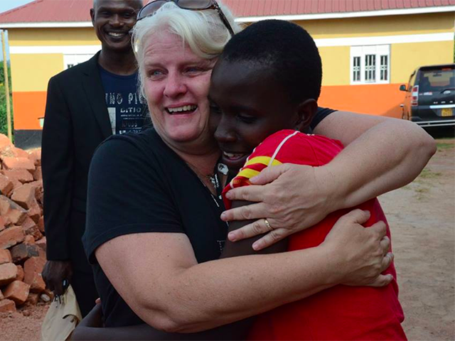 World Help Tracey Meeting Sponsored Child