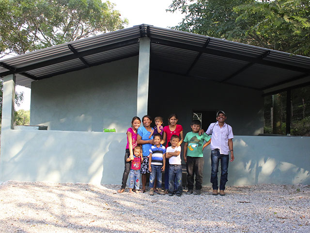 Guatemala Family with their new Small Home