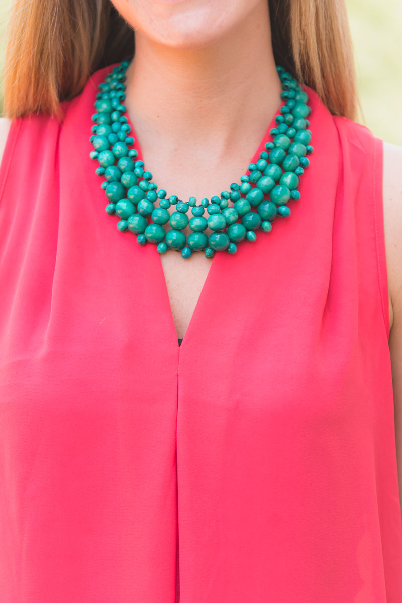 Another image about Mahogany Bead Necklace