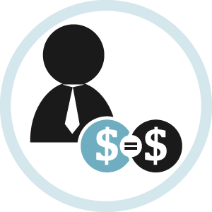 Illustrated icon for employer matched giving