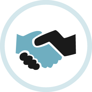 Illustrated icon for partnering with us