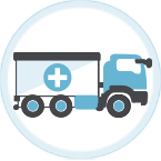 Illustrated icon about shipping