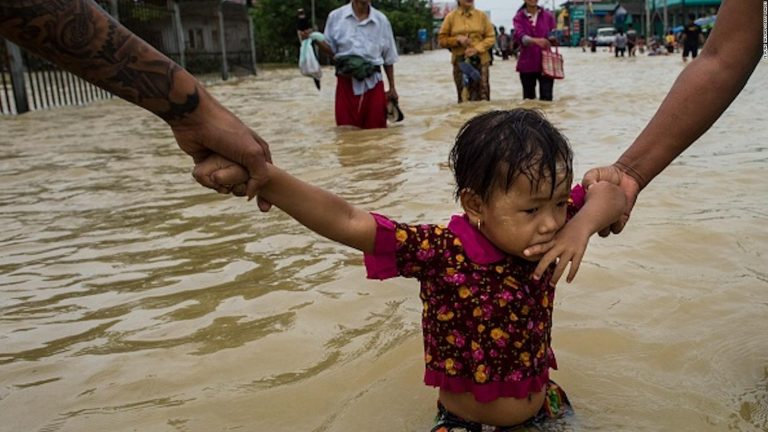 Preview thumbnail for the article: Thousands left homeless by Myanmar's floods