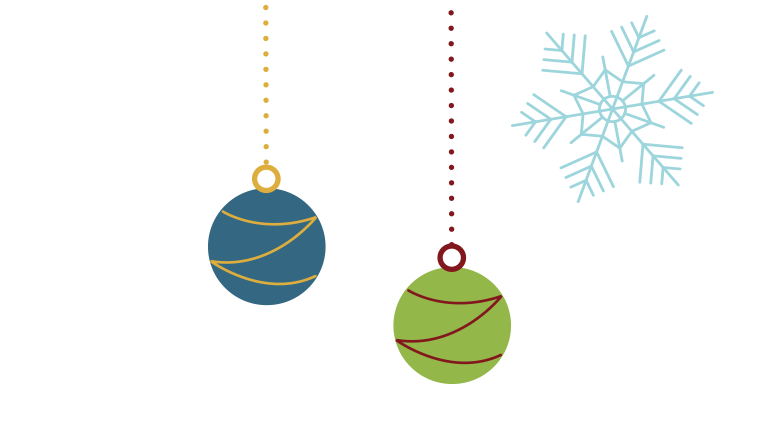Cute illustration of some ornaments