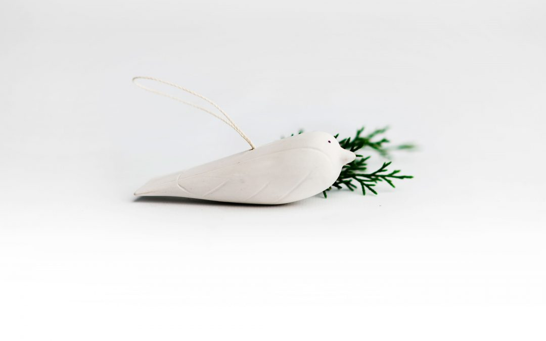 Hand-Carved Dove Ornament