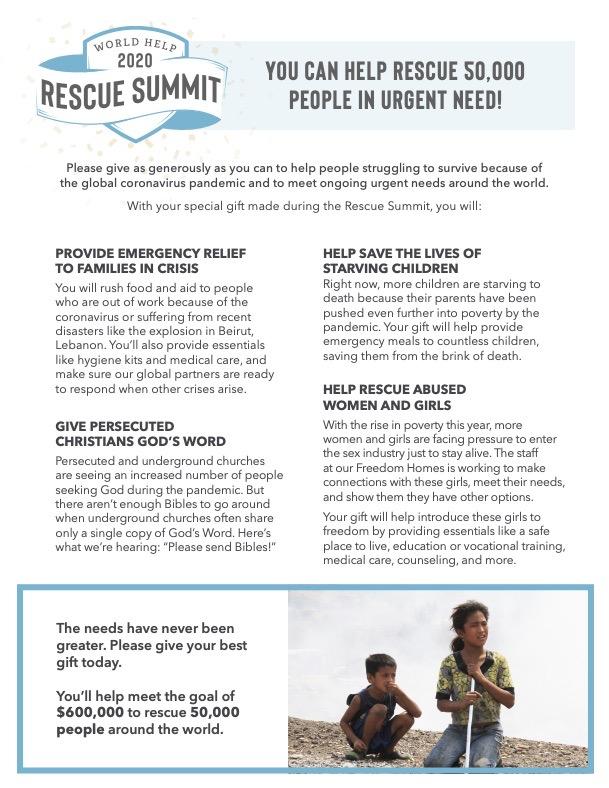 Rescue Summit Fact Sheet