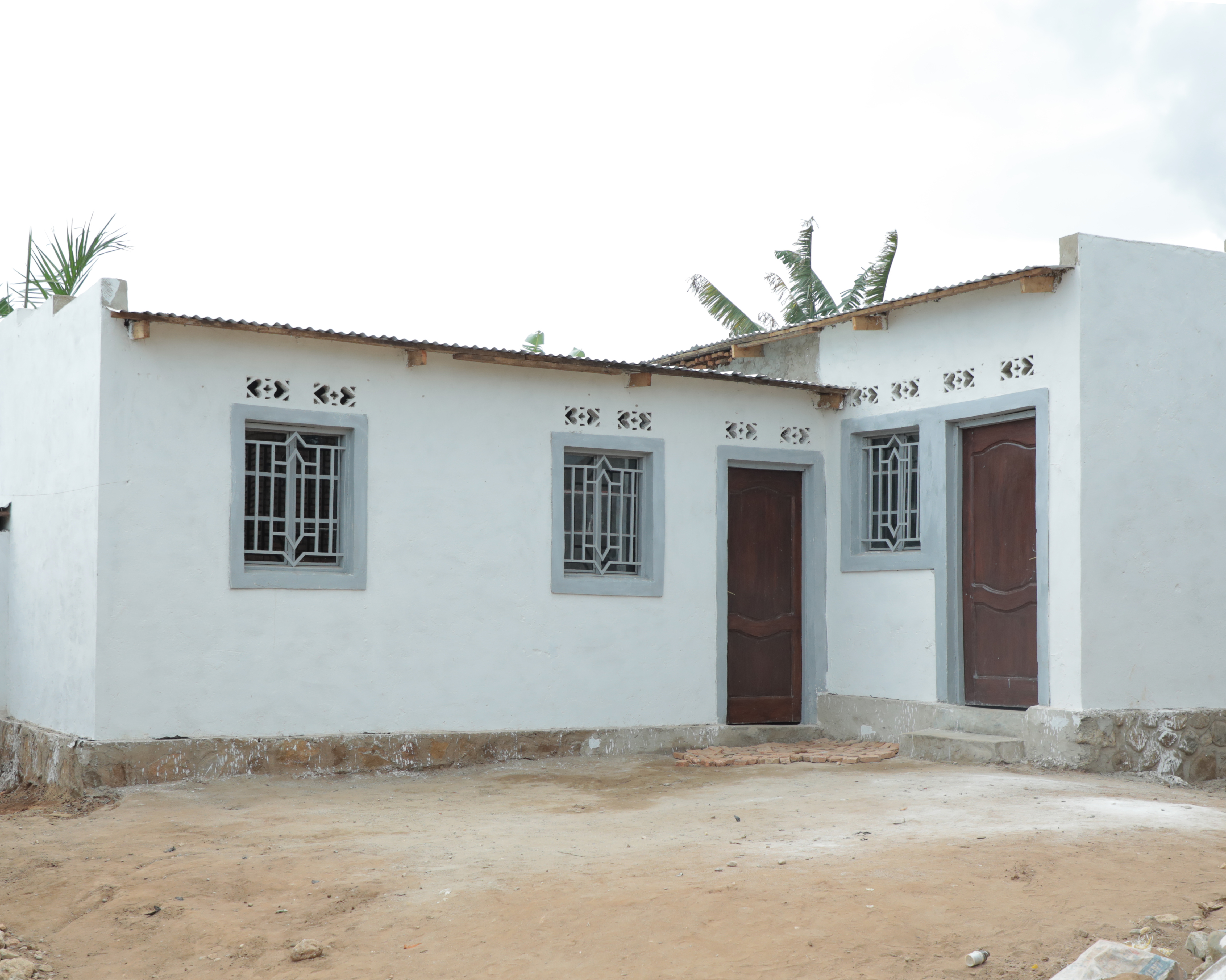 A newly built home in Burundi