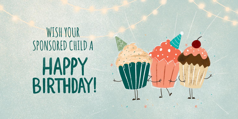 Birthday gift for sponsored child's program